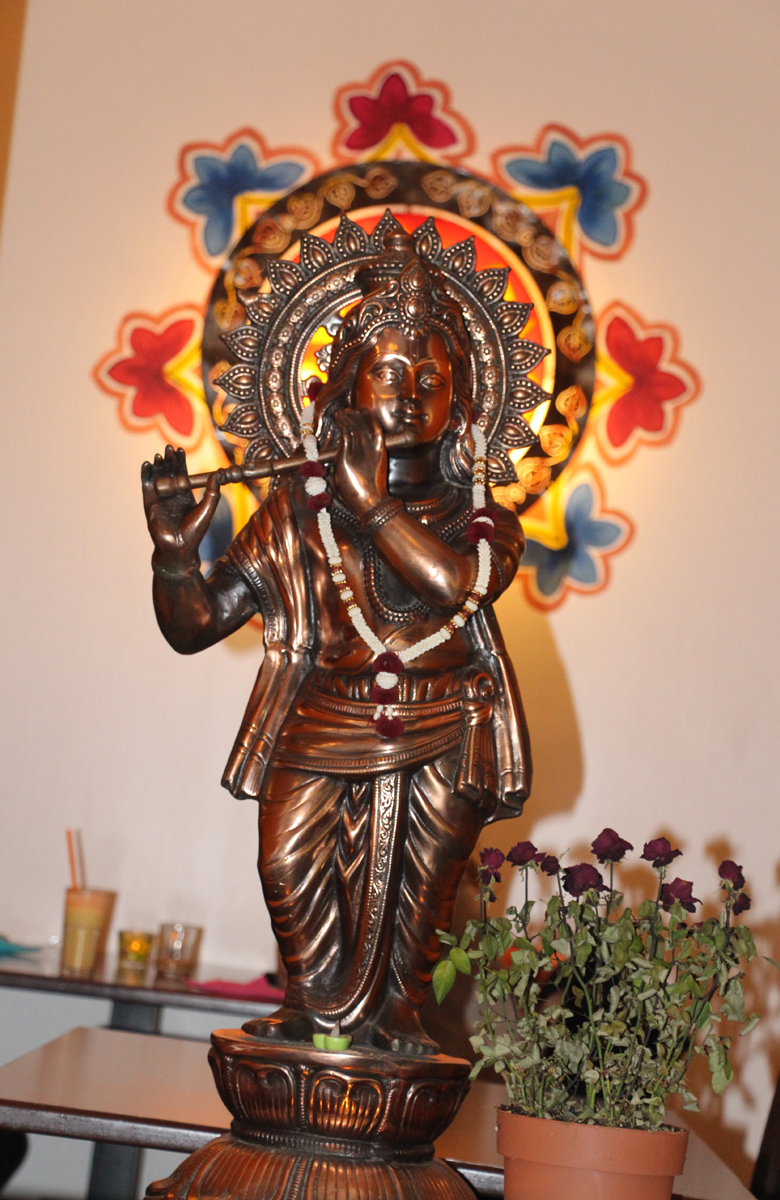 Hindu god idol in Indian restaurant